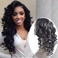 Glueless Полный Шнурок Человеческих Волос Парики Фронта Шнурка Свободная Волна парики Необработанные Виргинских Бразильских Волос Свободная Волна Парик Для Черный женщины