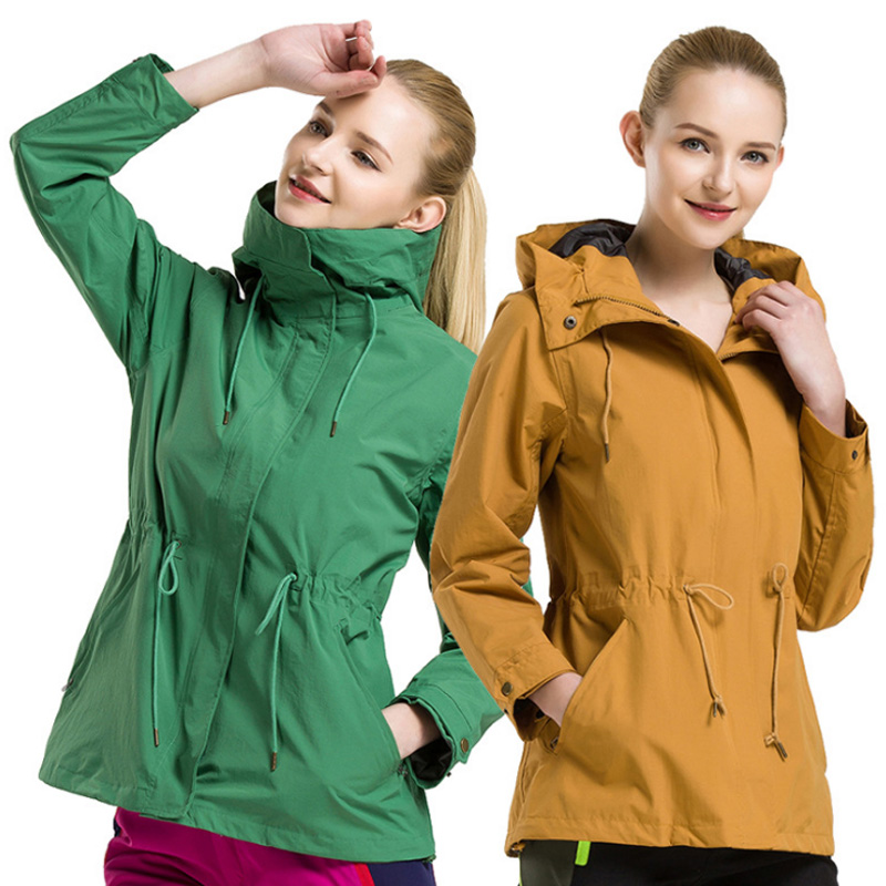 ФОТО Waterproof Outdoor Sport jacket Women Camping Hiking Outing Clothes Windbreaker Coat Hoody ventilate