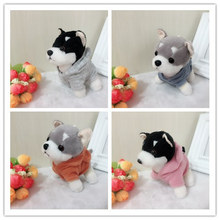 13cm 25 Colors Cute Plush Puppy Bag Pendant Dolls Dog Keychains For Friend Gift Toy 2018 New Year Gift(China)