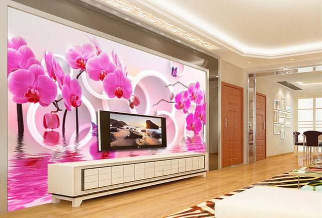 Fashion house living room interior modern wallpaper beautiful ...