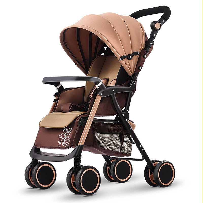High Quality Lightweight Baby Stroller Shockproof Folding Baby Cart High Landscape Portable Prams Newborn Lying Baby Carriages folding baby stroller lightweight baby prams for newborns high landscape portable baby carriage sitting lying 2 in 1
