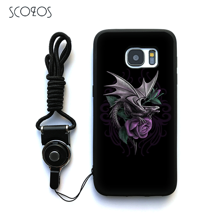 SCOZOS anne stokes 6 Silicone TPU Phone Case Cover For Samsung Galaxy S6 S7 S7 edge S8 S8 Plus J3 J5 J7 A3 A5 A7 2016 Note 8 ...