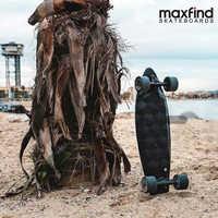 Maxfind monopatín eléctrico de cuatro ruedas MAX2, 1000W * 2 motores duales inalámbrico de la placa del patinete de la patineta