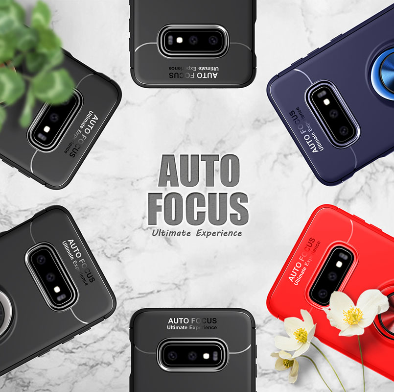 For Samsung Galaxy S10 For S10 Lite Cases Finger Ring Stand Shockproof Soft Back Cover for Samsung Galaxy S10 5G For S10E Coque in Half wrapped Cases from Cellphones Telecommunications
