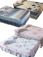 Bedsheet Thick cotton bed skirt printed striped bedspread bedding a variety of styles