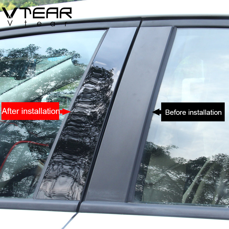 Image 2 - Vtear For Mazda 3 Axela 2014 2019 car window BC column sticker trim mirror reflection panel Exterior accessories hatchback sedan-in Car Stickers from Automobiles & Motorcycles