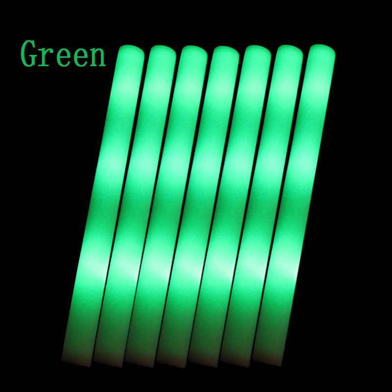 12 pçs/lote colorido vara de espuma led fluorescente fulgor rally rave cheer tubo macio brilho vara baton varinhas festa festival luz vara