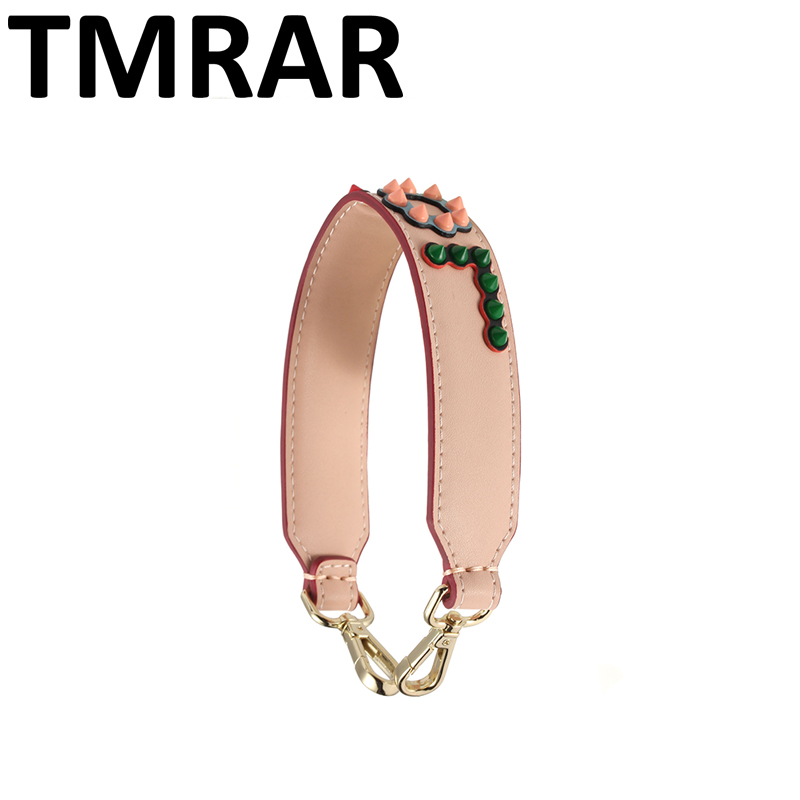 New 2019 Women Strap Split Leather Studs Short Strap Classic Love Letter Straps Hot And Chic Necessary Shoulder Belts Qn365