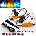 2x Free Error de Canbus T20 7440 50 W 2835 42SMD LED DRL Daytime Luces y luces de Giro Delanteras Todo en Uno T20 7440 de Apertura de cama luz
