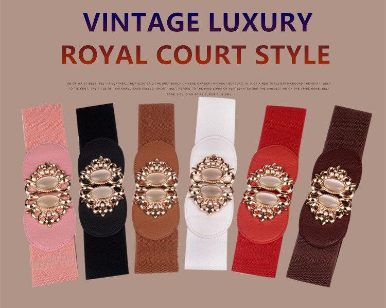 f7e3faa07 60mm de Largura Mulheres Elástico Na Cintura Do Vintage Jóia Luxo ...