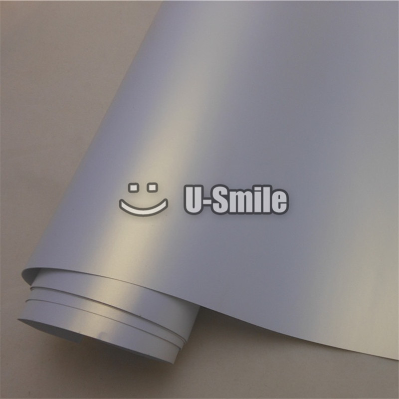 Best Quality White Gold Satin Matte Pearl Vinyl Wrap Sheet Bubble Free For Car Wraps Size:1.52M x 20M