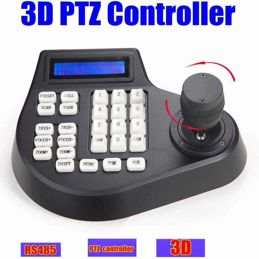 CCTV Speed dome camera LCD 1 5km 3D jostick ptz controller keyboard Pelco  RS485 for ptz camera