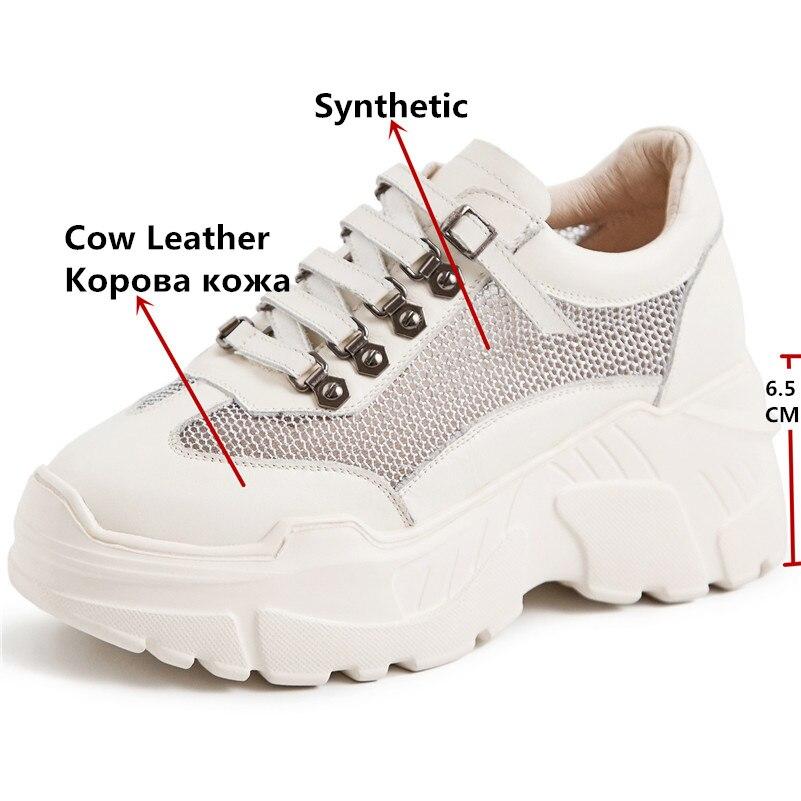 FEDONAS nowych kobiet płaskie buty ze skóry naturalnej platformy buty kobieta zasznurować nity buty w stylu casual damskie oddychające wiosna trampki w Damskie buty typu flats od Buty na  Grupa 3