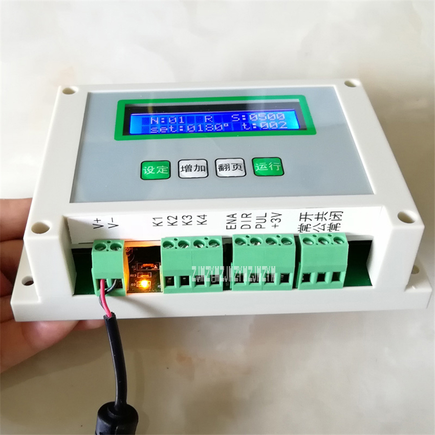 New A8_01 Stepper <font><b>Motor</b></font> Controller LCD Digital Display Programmable Angle Action Delayable <font><b>Control</b></font> Panel <font><b>Motor</b></font> Controller12-<font><b>24V</b></font> image