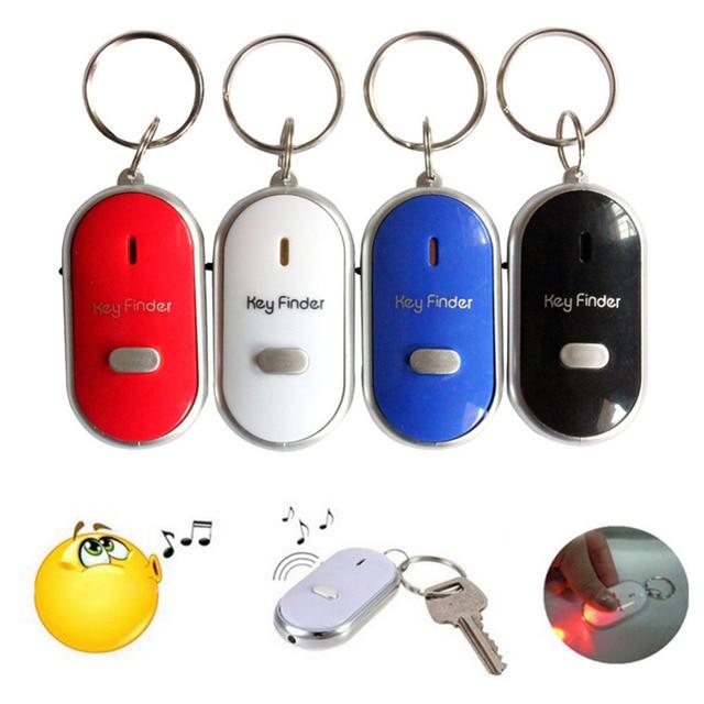 2018 New 4 Colors Mini LED Whistle Key Finder Flashing Beeping Remote Lost Keyfinder Locator Keyring for children the older J15