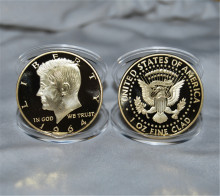 1964 Years,1 Oz Fine CladUnited States Of America Liberty Gold Coin ,50pcs/lot Free shipping