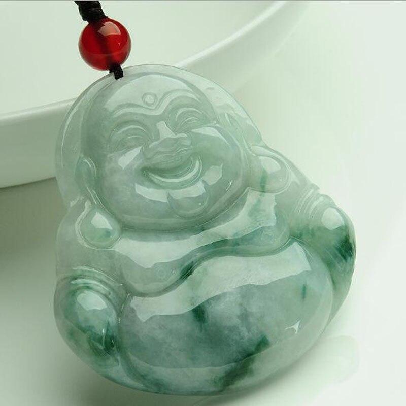 Fijne sieraden natuurlijke handgemaakte gesneden Lachende Boeddha ketting hanger Lovers 'Hangers Amulet Sieraden/-in Amulet van Sieraden & accessoires op  Groep 1
