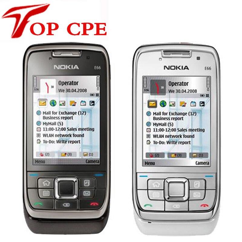 Venta caliente teléfono abierto original nokia e66 3g smartphone 3.2 3.2mpcamera