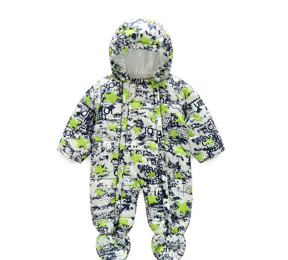 Cute Winter Baby Rompers Infant Baby Clothes Kids Long Sleeve Hooded Printing Jumpsuit Boys Girls Warm Overall Menino Menino winter newborn bear jumpsuit patchwork long sleeve baby rompers clothes baby boys jumpsuits infant girls clothing overall