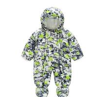 Cute Winter Baby Rompers Infant Baby Clothes Kids Long Sleeve Hooded Printing Jumpsuit Boys Girls Warm