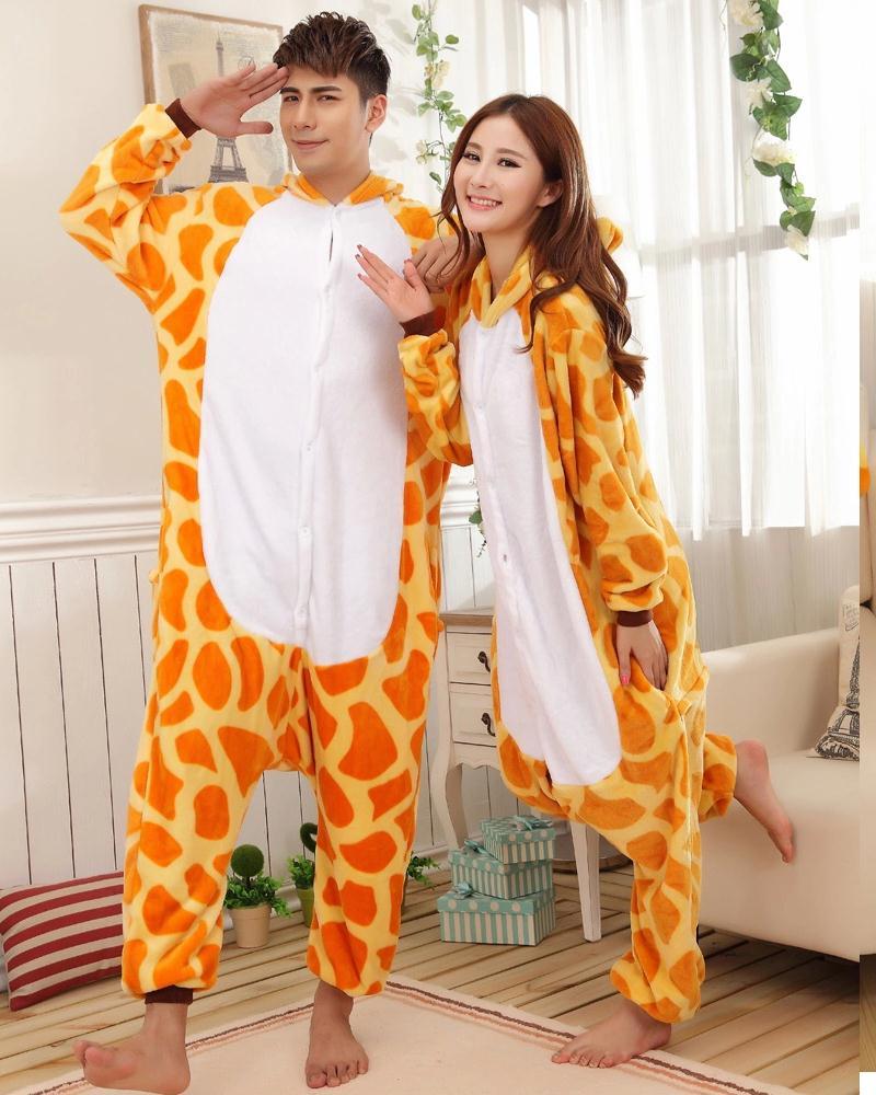 Aliexpress.com : Buy Party Pijama Flannel Giraffe Pajamas Cartoon ...