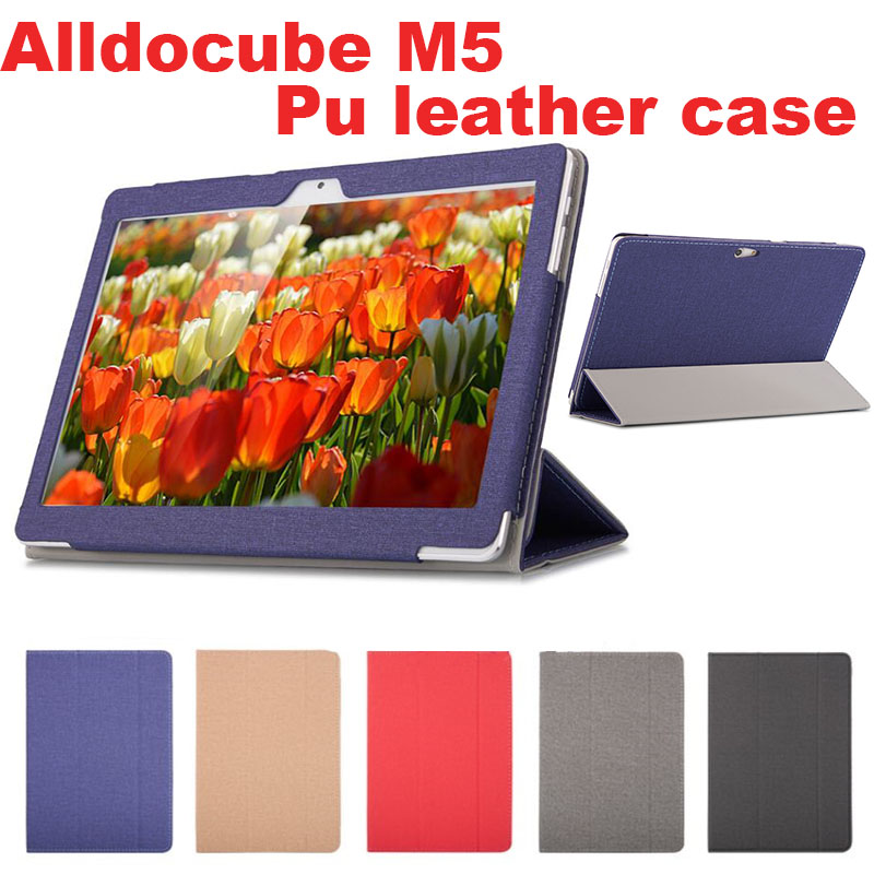Fashion PU leather Protective Folding Folio Case for alldocube m5 for 10.1inch Tablet PC Cover Case nillkin protective pu leather pc case cover for sony xperia e1 d2105 white