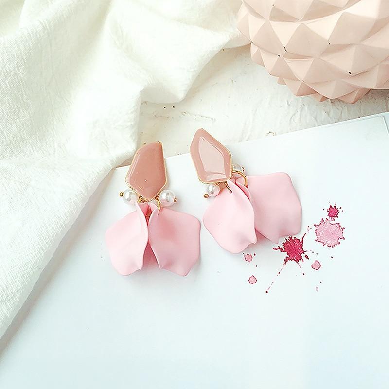DREJEW Blue Pink Yellow Orange Elegant Flower Statement Earrings 2019 925 Drop Earrings Sets for Women Wedding Jewelry HE7911 in Drop Earrings from Jewelry Accessories