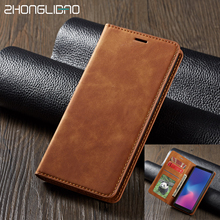Leather Flip Case for Samsung Galaxy S9 S8 S10 s7 edge note 10 9  J4 J