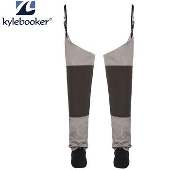 Fly Fishing Waders กันน้ำกางเกงขาถุงน่องเท้าสะโพก Wader Breathable ต้นขา waders กางเกง