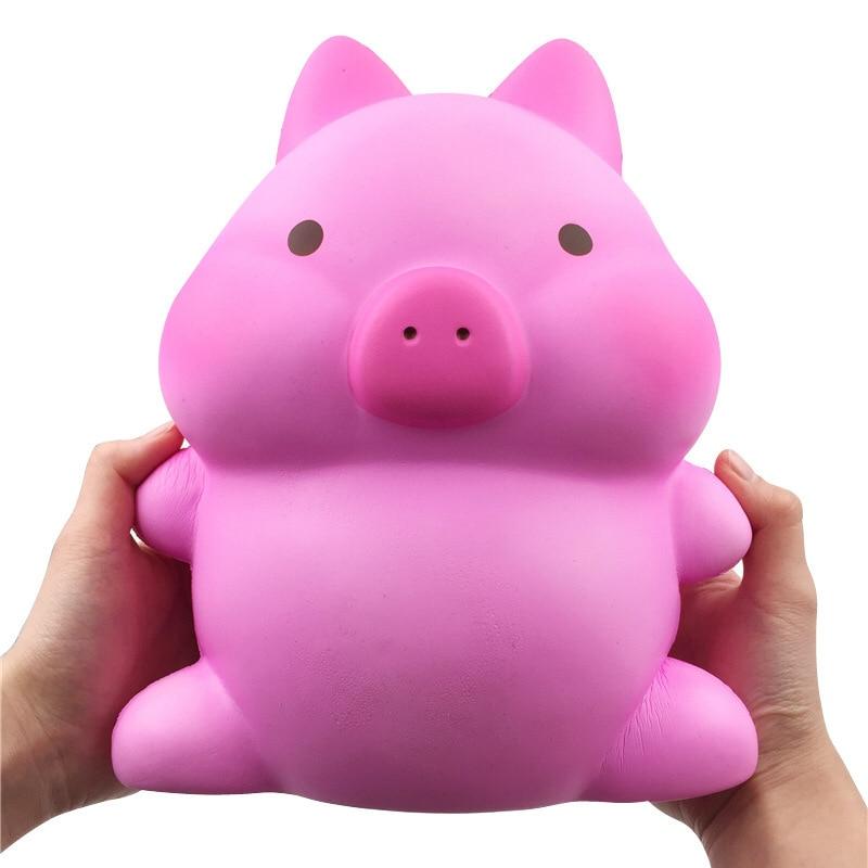 Antistress Jouet grande taille Kawaii Squishies Cochon Rose Jumbo Visqueux Lente Hausse jouet Meilleur cadeaux pour Enfants Anti stress Énorme Jouets