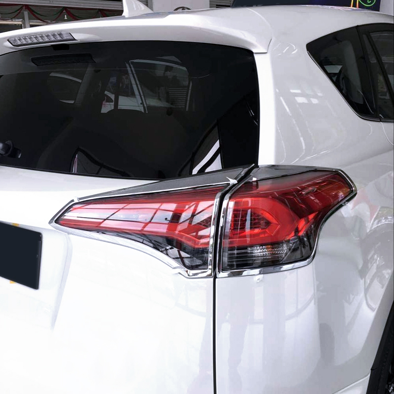 Image 4 - for Toyota RAV4 2016 2017  Car styling Accessories  Exterior Tail Rear Light Lamp Cover Trim 4pcs-in Roof Racks & Boxes from Automobiles & Motorcycles