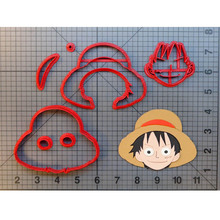 Anime Character Luffy Cookie Cutter Set Custom Made 3D Printed Naruto Fondant Cupcake Top Cake Decoration Tools Molds