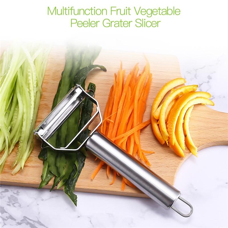 Ultra Sharp Stainless Steel Vegetable Peeler Kitchen Potato Slicer Julienne Fruit Vegetable Peeler Potato Carrot Grater Slicer 0