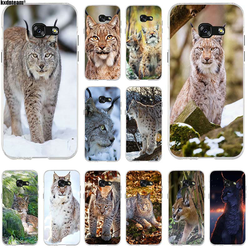 For Samsung Galaxy A3 A5 A7 J1 J2 J3 J5 J7 2016 2017 Coque Shell Soft TPU Silicone Mobile Phone Cases Hot Wild Bobcats Animal