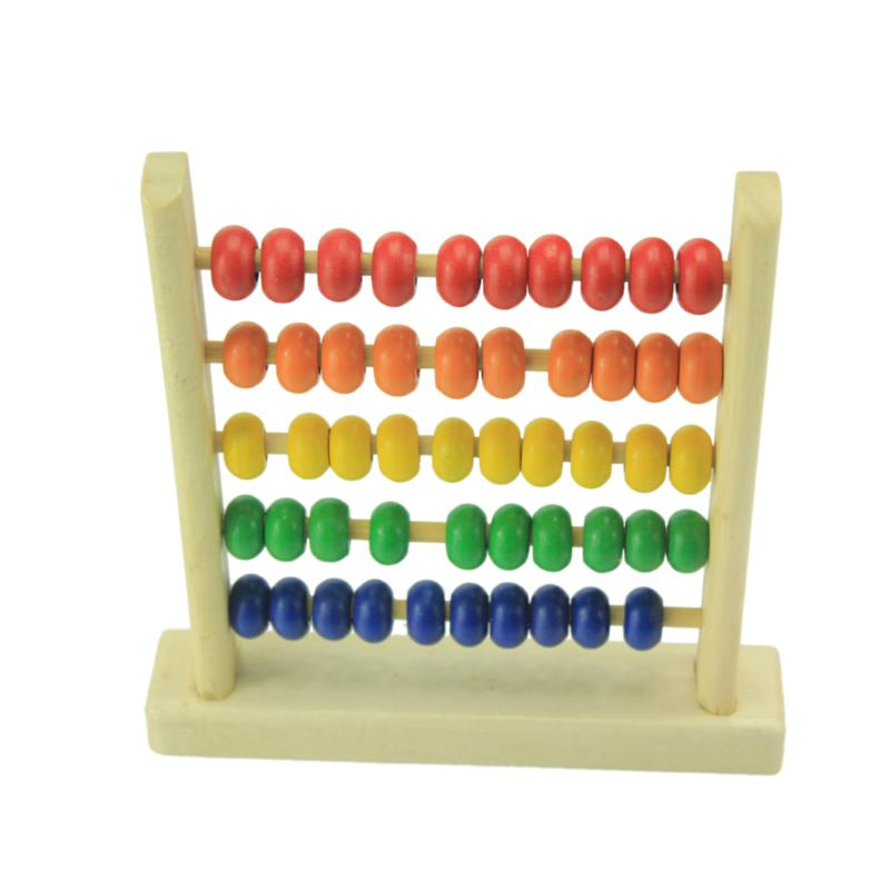 Baby Wooden Calculating Beads Abacus Frame Thinking Mathematics Develop Toy JD