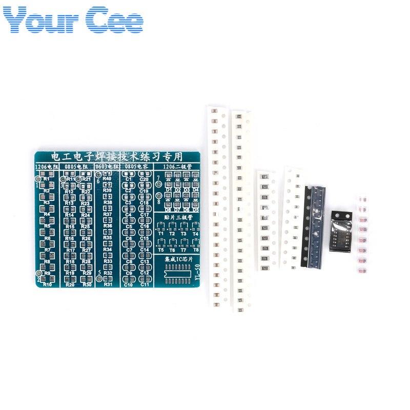 20 sets Electronic 2014 New DIY Kit SMT SMD Component Welding Practice Board 65*53mm Soldering DIY Kit Electronic Component