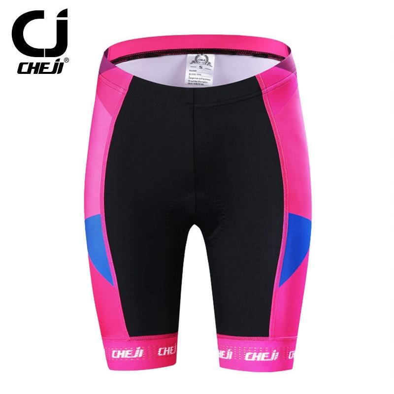 Reflective CHEJI Blade Women s Cycling Jersey Shorts Kit Bike Clothing  Short Set Pink Ladies  Bicycle Shirts and MTB Shorts Pad-in Cycling Sets  from Sports ... 51fc1b854