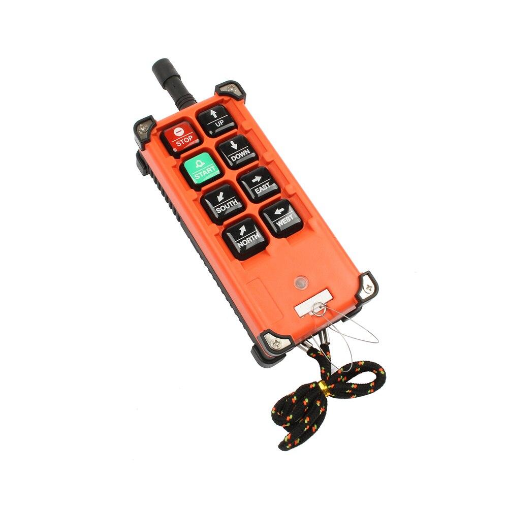 DIANQI télécommande industrielle grue de levage bouton poussoir avec 8 boutons 1 récepteur + 1 émetteur pour camion grue de levage - 4