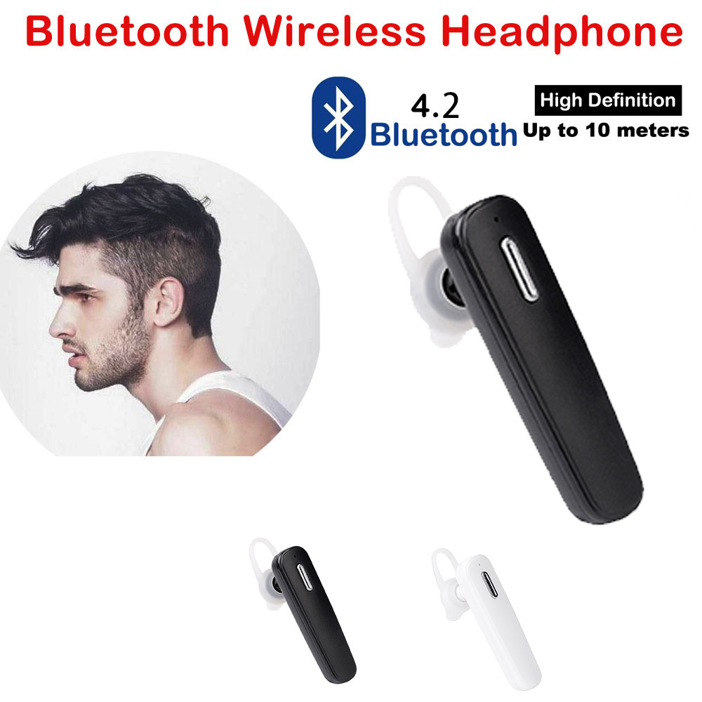Bluetooth 4.2 Wireless Headset Earbud Headphone Earphone With Mic For iPhone can connect two devices at the same time