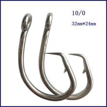 50pcs 10/0 Mustad Tuna Circle Fishing Hook Stainless Steel Tuna Circle Fishing Hook Barbed Hook For Fishing