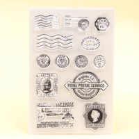 KLJUYP Post Klar Briefmarken Sammelalbum Papier Handwerk Klar stempel scrapbooking 318