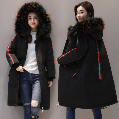 Winter Jacket Women 2018 New Europe Style Fashion Loose Medium Long Autumn Winter Plus Size Down cotton   Parkas   Lady Coat