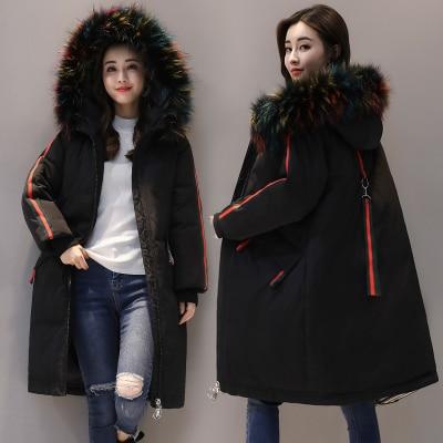 Winter Jacket Women 2018 New Europe Style Fashion Loose Medium Long Autumn Winter Plus Size Down cotton Parkas Lady Coat