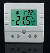 TFY-308 Room Thermostat AC220V for 3-speed  fan coil and motorized valve conrol Large LCD (no backlight)