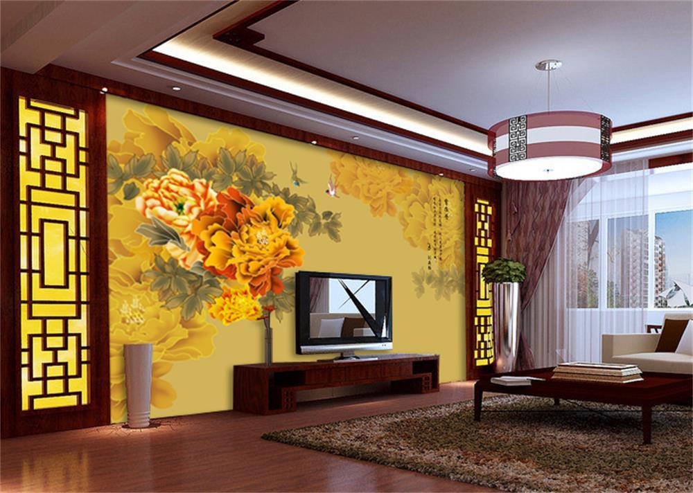 ᗛ3d chambre papier peint personnalisé HD photo murale Chinois