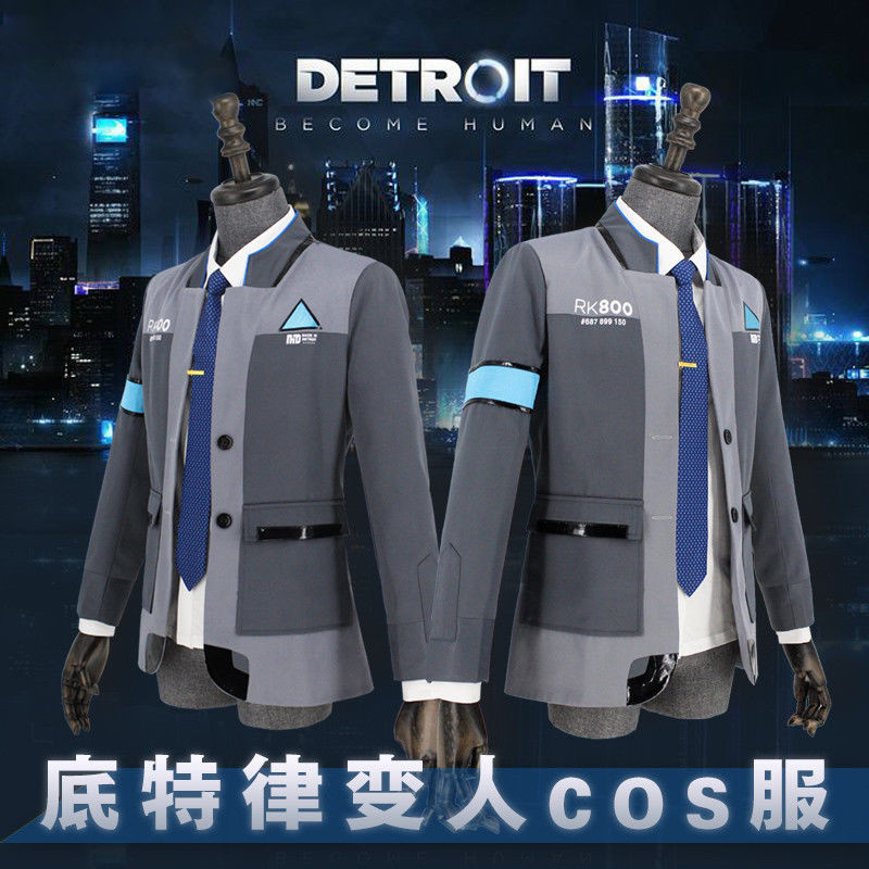 Ainiel Game Detroit: Become Human Connor RK800 Cosplay Costume Men Agent Suit Halloween Party Uniform Coat and shirt  for Adult