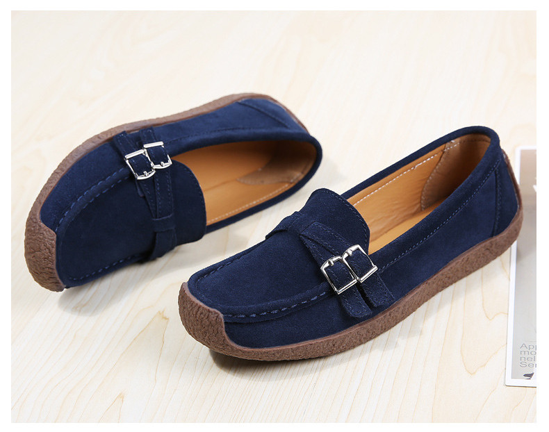 HX 7732-2019 Spring Autumn New Arrival Genuine Leather Women Flats Shoe-3