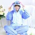 Blue Pajamas Sets Flannel Cute Animal Pajamas sets Winter Super Soft Flannel Nightie Cosplay Pyjamas Sleepwear Cosplay