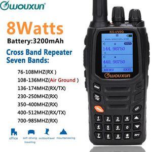 Image 1 - Wouxun KG UV2Q 8 W haute puissance 7 bandes, y compris bande dair répéteur de bande croisée talkie walkie mise à niveau KG UV9D Plus Radio jambon