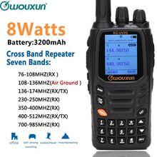Wouxun KG UV2Q de 8W de alta potencia, 7 bandas que incluyen banda de aire, repetidor de banda cruzada, Walkie Talkie, actualización KG UV9D Plus Ham Radio